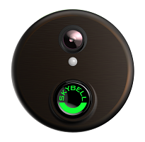 Round Bronze Video Door Bell Alarm