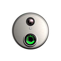 Round Nickel Video Door Bell Alarm